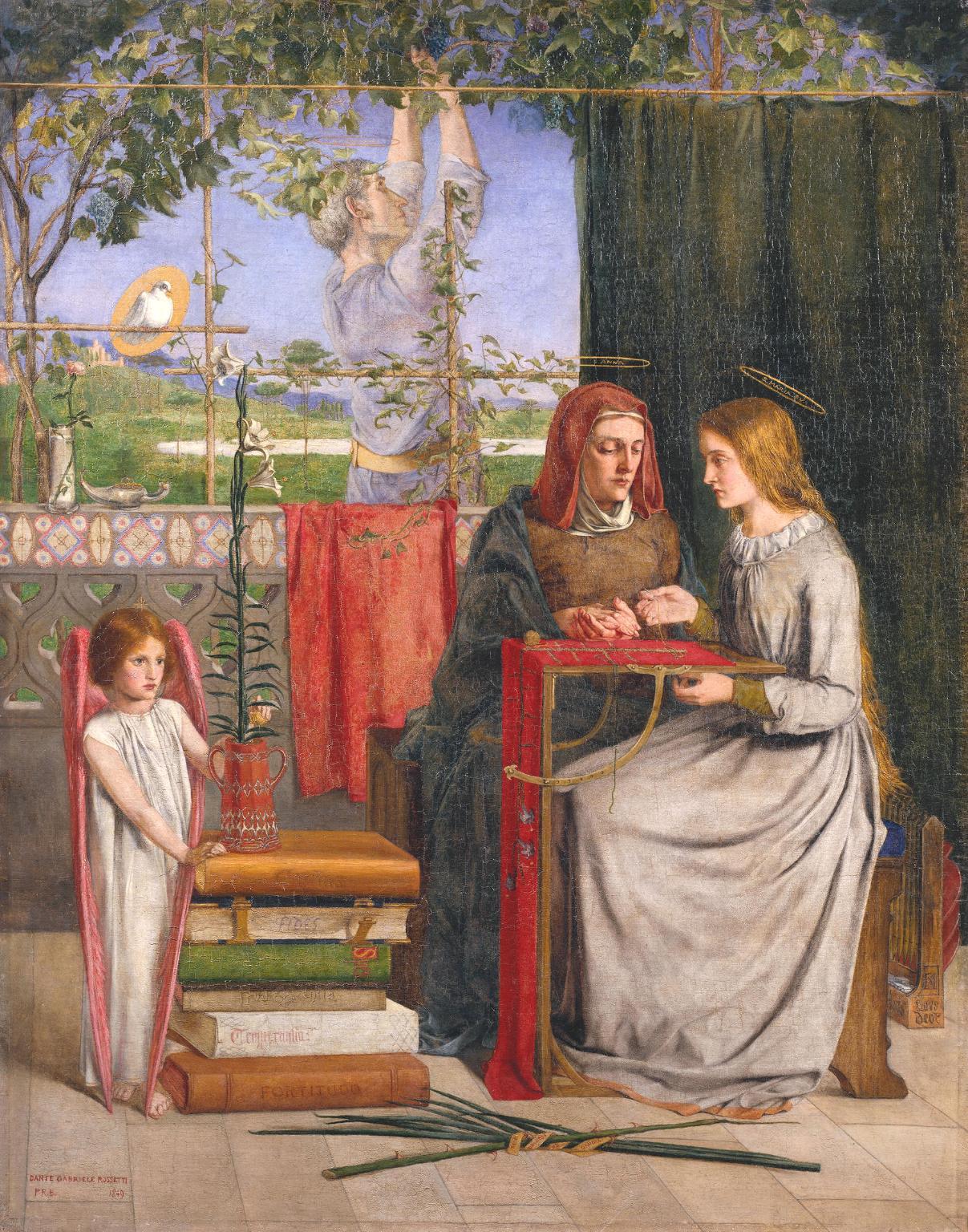 The Girlhood of Mary Virgin 1848-9 by Dante Gabriel Rossetti 1828-1882